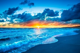 sunset-blue-ocean